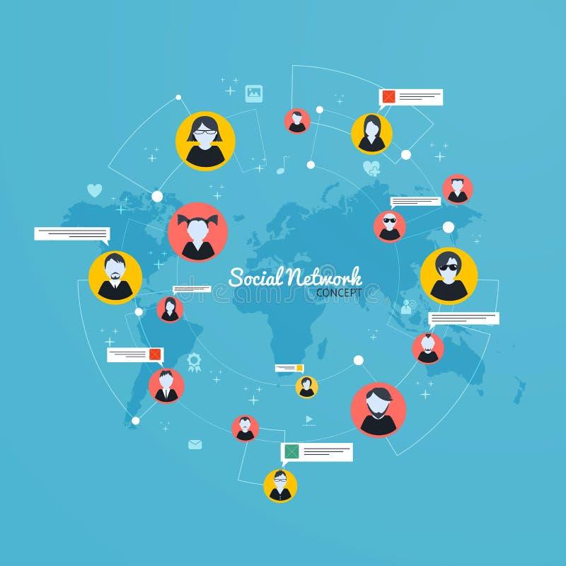 Social Media, Network concept. Flat design. Vector. Social Media, Network concept, people conect. Flat design. Vector stock illustration