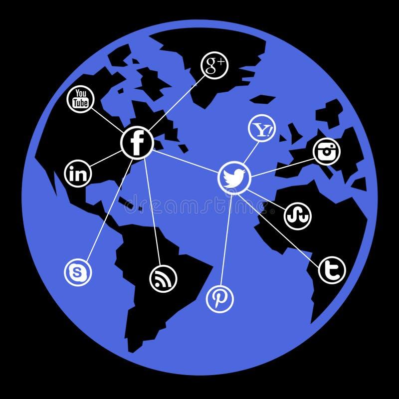 Download Social media network stock illustration. Illustration of colors - 29902259