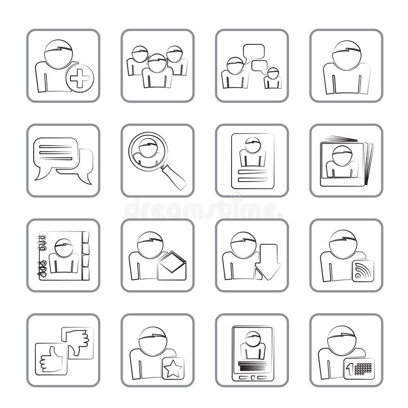 Download Social Media And Network Icons Stock Vector - Illustration: 26037652