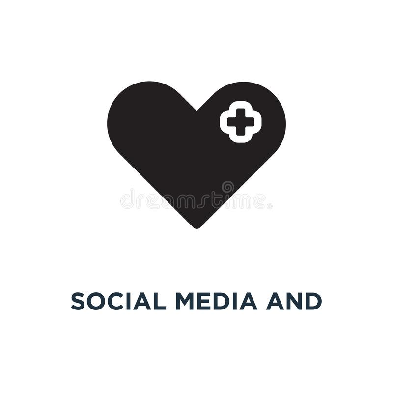 Social media and network icons icon. social media and network ic. Ons concept symbol design, vector illustration vector illustration