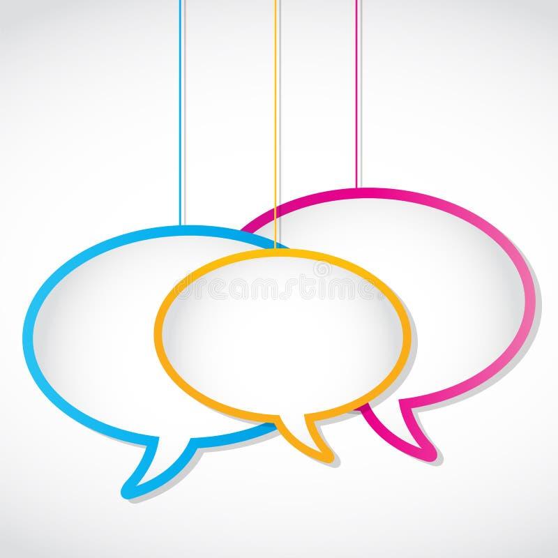Download Social Media Network Speech Bubbles Stock Vector - Illustration: 28217054