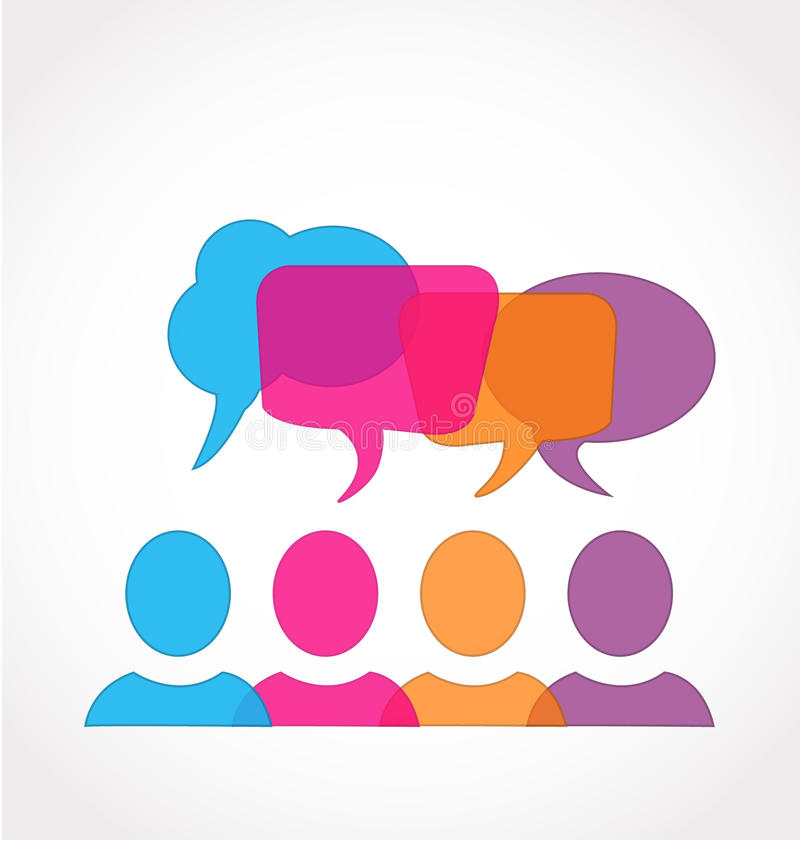 Social Media Network Speech Bubbles Royalty Free Stock