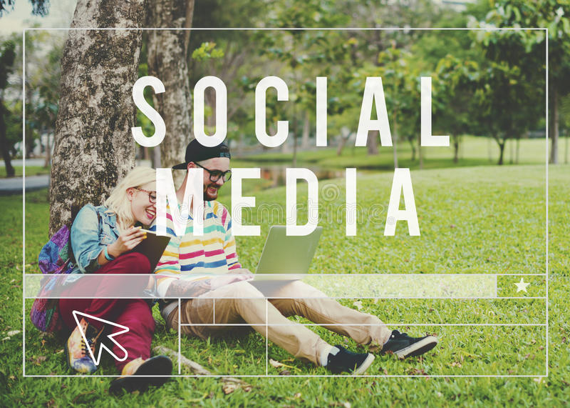 Social Media Network Web Online Internet Concept stock photo