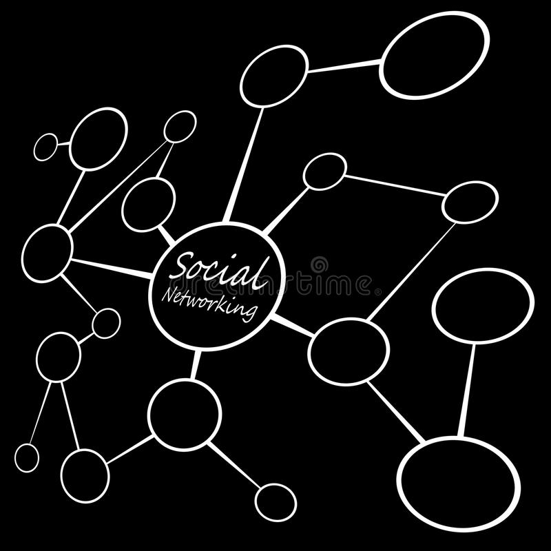 Social Media Networking Chart Stock Images