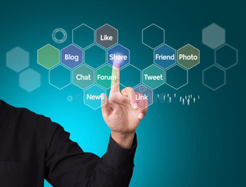 Social media. And networking concept