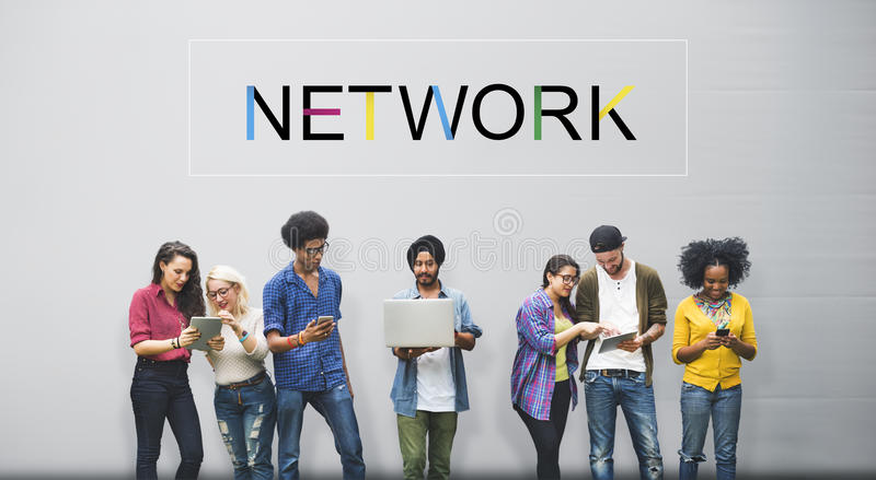 Social Media Networking Connection Communication Concept.  stock photos