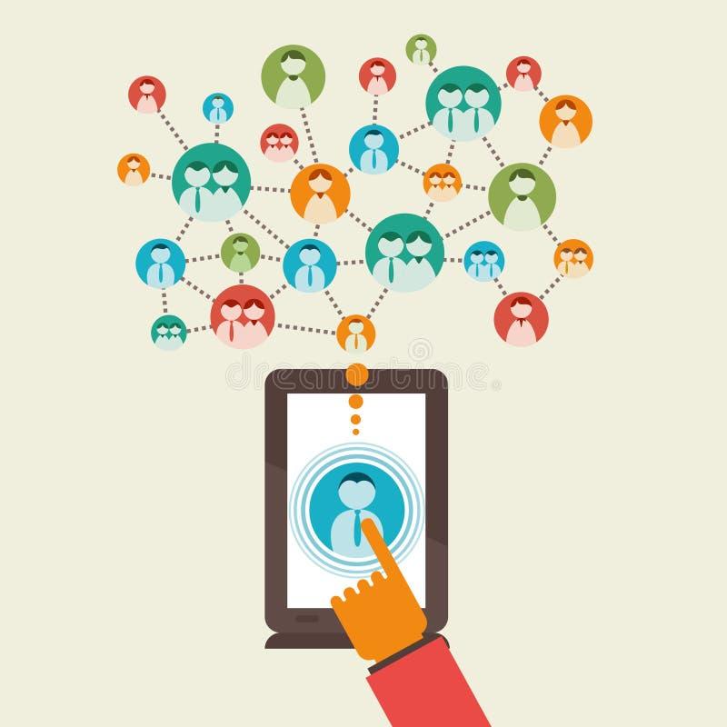 Social Media-Netzkonzept lizenzfreie abbildung