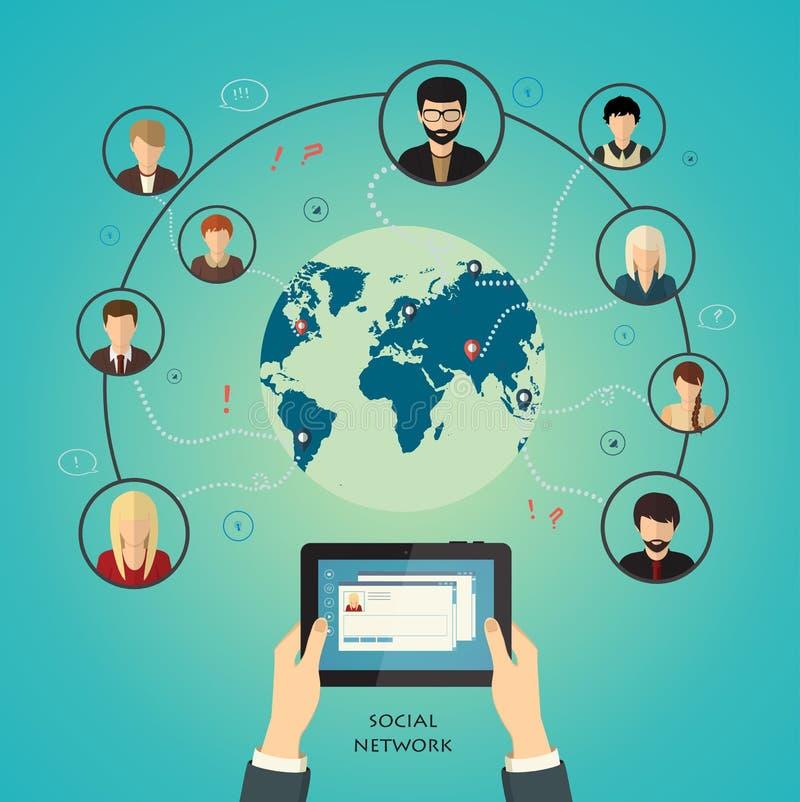 Social Media-Netzkonzept, Vektor vektor abbildung