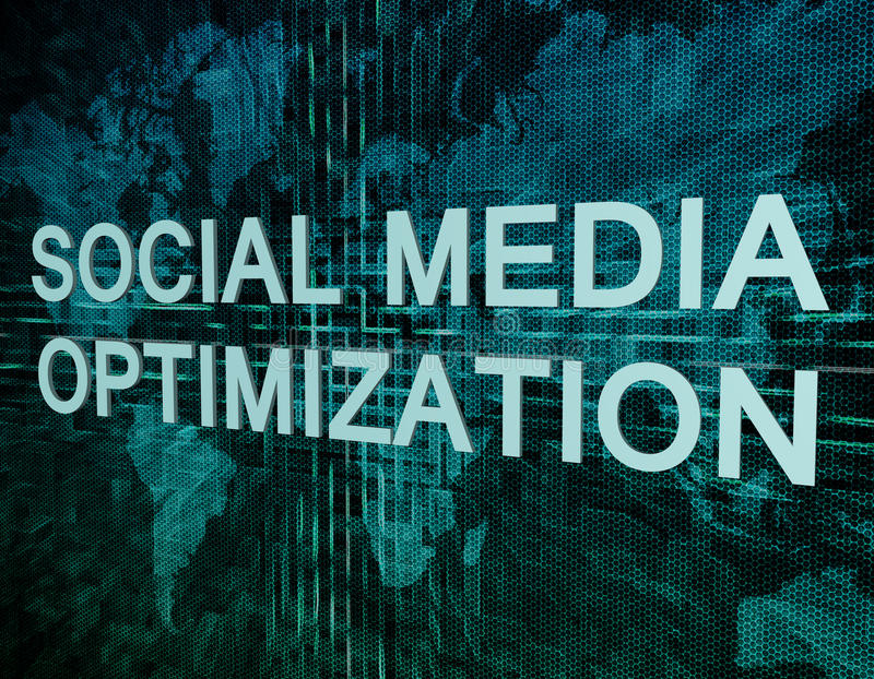 Social Media Optimization libre illustration