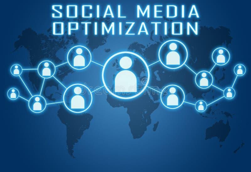 Social Media Optimization royalty free illustration