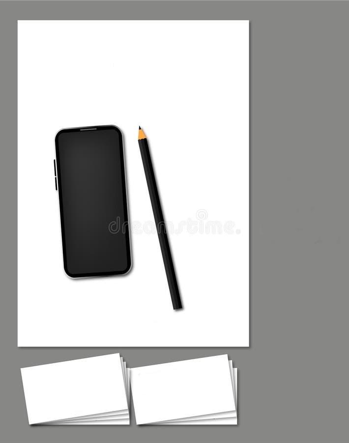 Social media pack or template or mockup - Logo+Business card +Letterhead stock illustration