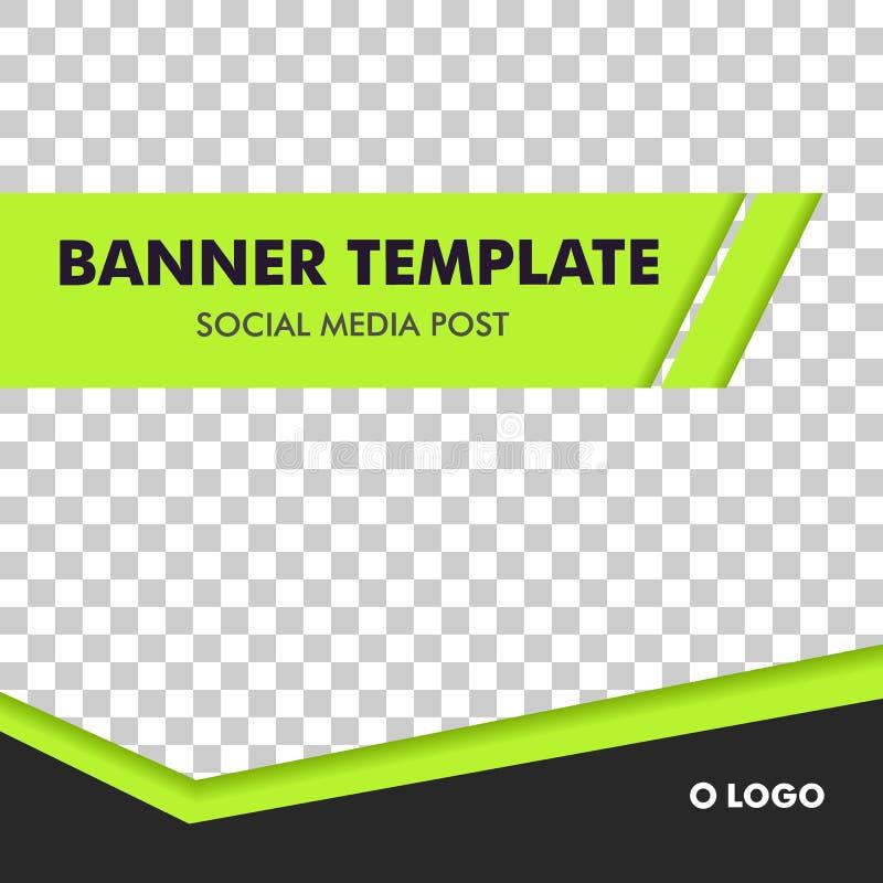Social Media Post Template Banner Design. For fashion, sport, activity, sale product vector illustration