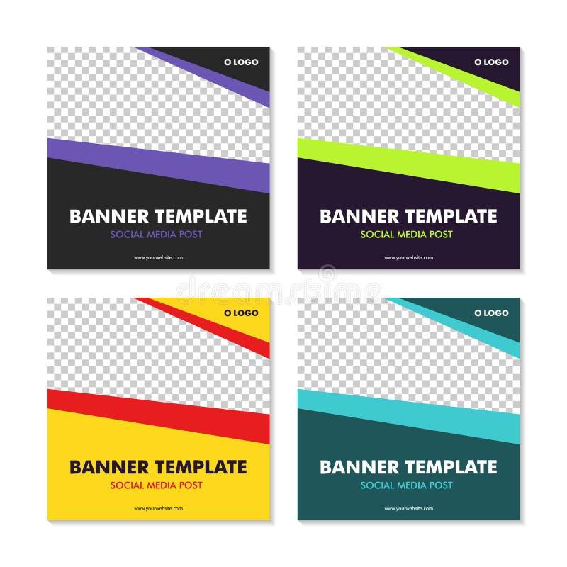 Social Media Post Template Banner Design Vector. For website stock illustration