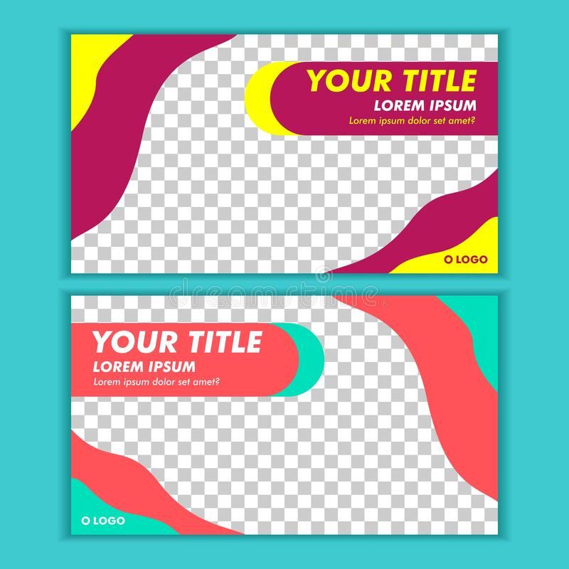 Social Media Post Template Banner Design Vector. Suitable for anything stock illustration