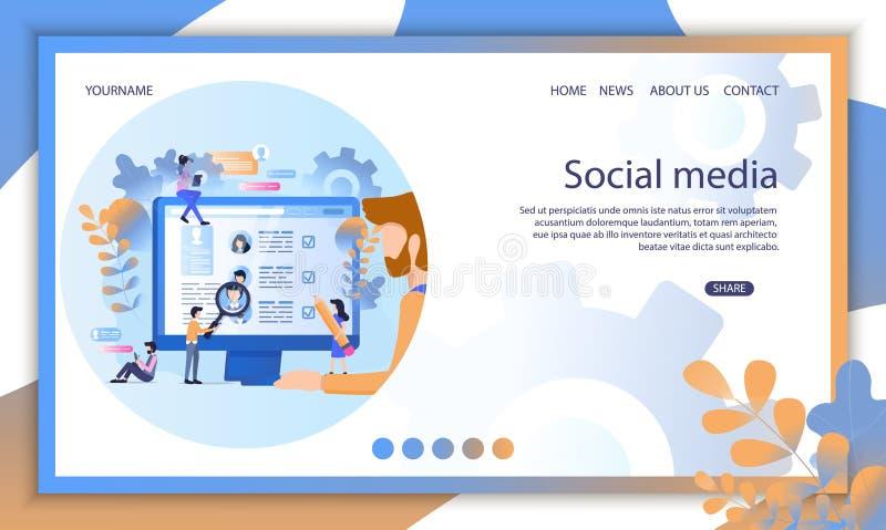 Social Media Recruit Online Profile Resume Search stock illustration