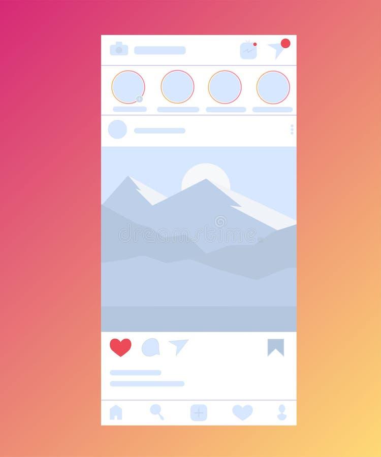 Social Media-Schirm lokalisiert auf Hintergrund lizenzfreie abbildung
