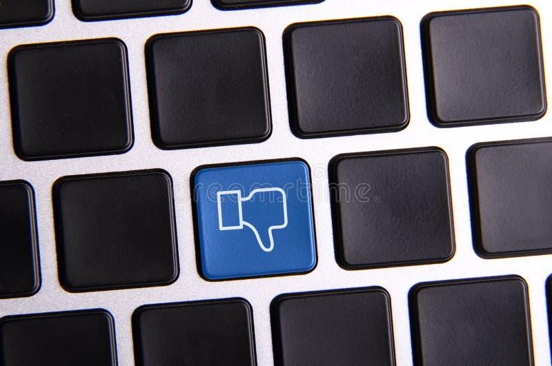 Social Media-Schlüssel stockfoto