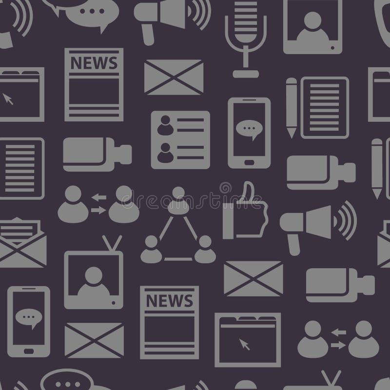 Social Media Seamless Pattern Background. Vector vector illustration
