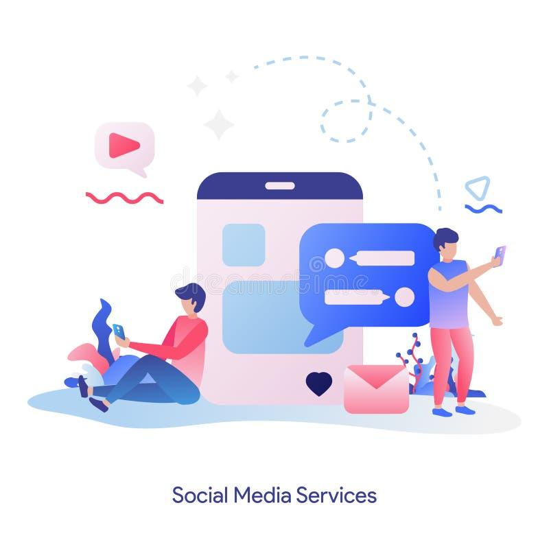 Social Media Services royalty free illustration