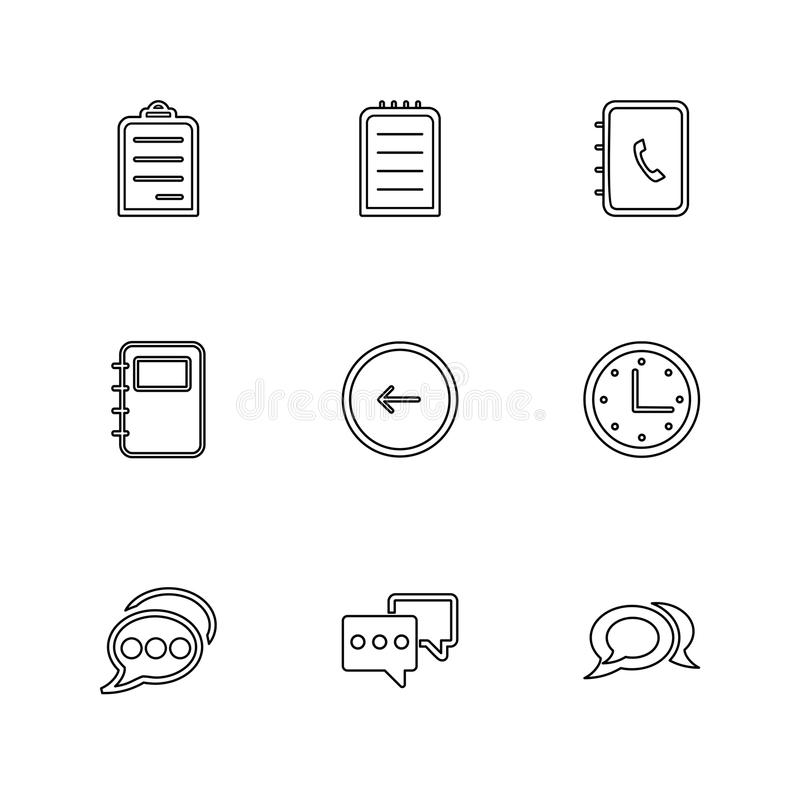 Social media , smart phone , mobile , internet , eps icons set v. Social media , smart phone , mobile , internet , chat , message , search , storage , clock vector illustration