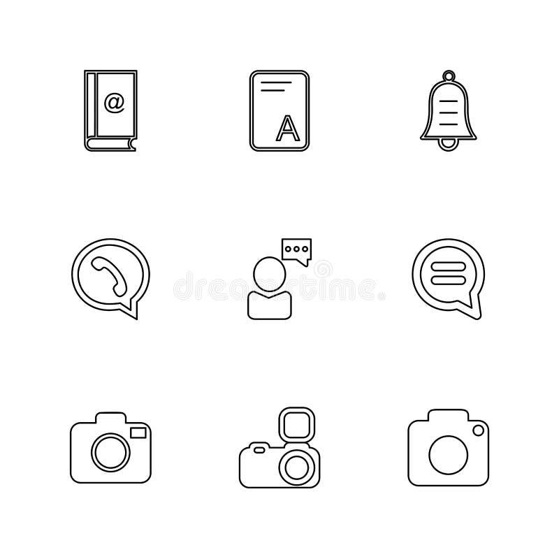 Social media , smart phone , mobile , internet , eps icons set v. Social media , smart phone , mobile , internet , chat , message , search , storage , clock vector illustration