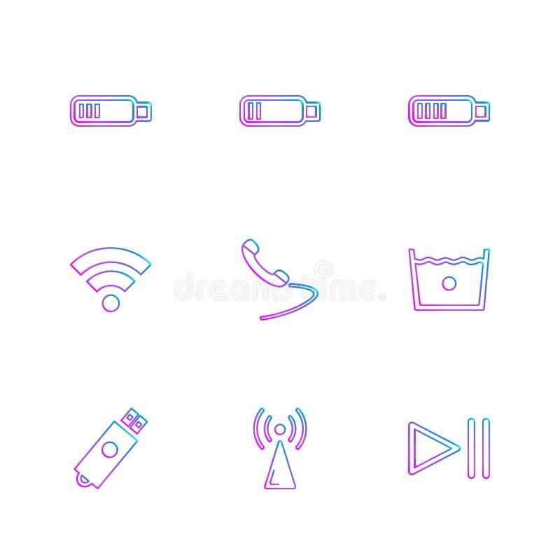 Social media , smart phone , mobile , internet , eps icons set v. Social media , smart phone , mobile , internet , chat , message , search , storage , clock stock illustration