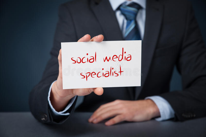 social media specialist stock image  image of handwritten