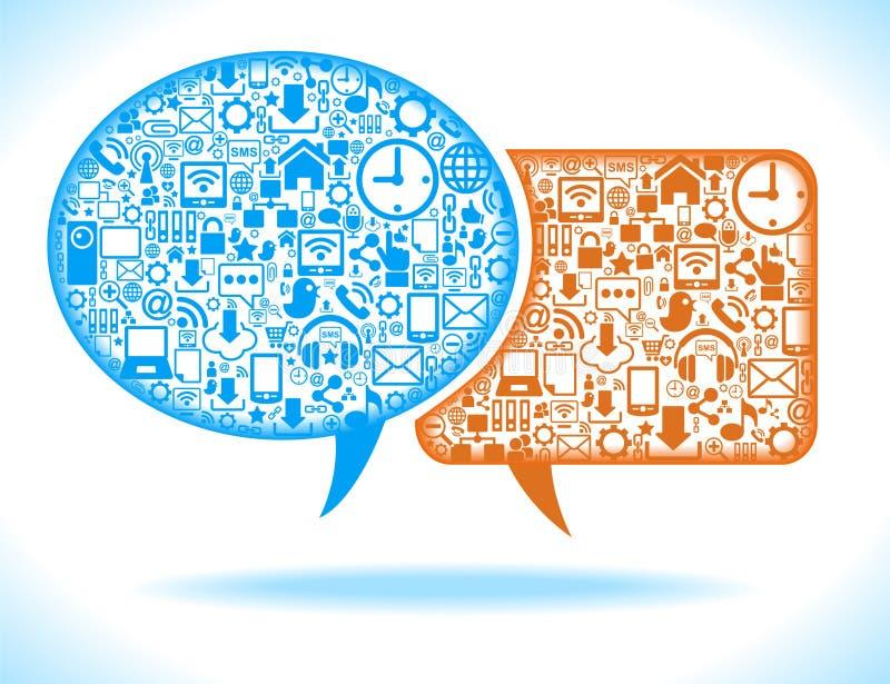 Social media speech bubble vector illustration