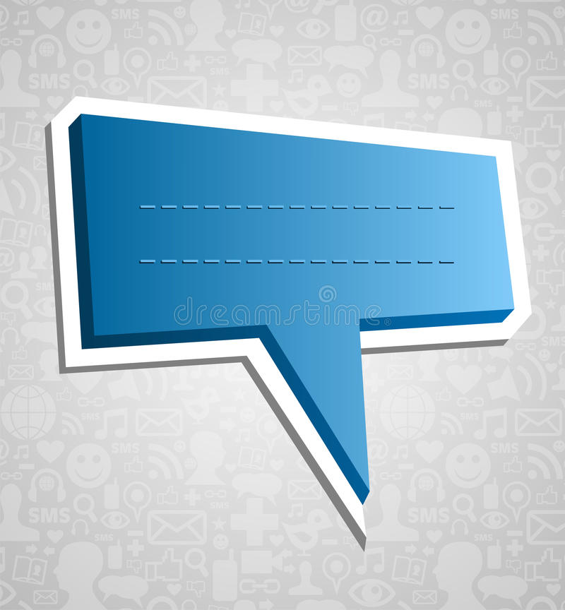 Download Social Media Speech Bubble Over Texture Stock Image - Image: 25475099