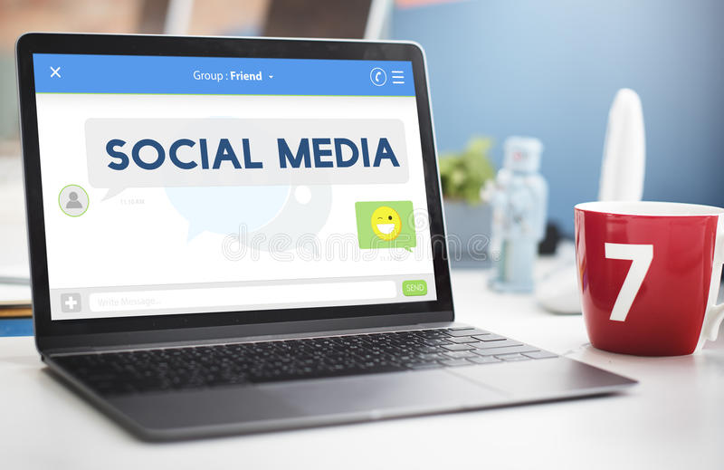 Social Media Stay Connected Concept stock photo