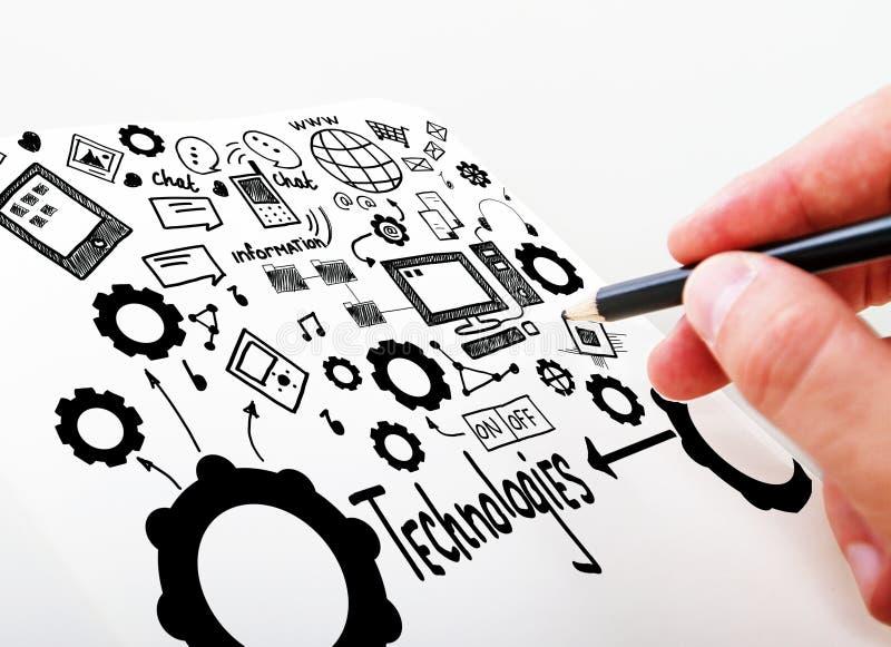 Social Media-Technologien lizenzfreies stockfoto