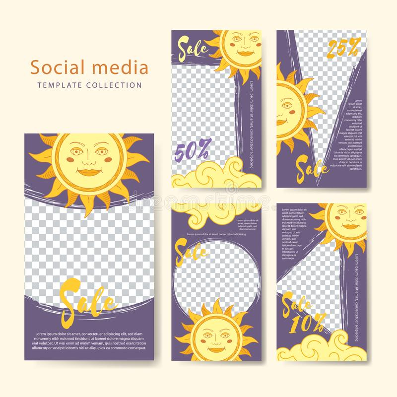 Social media template Stories Template stock photo