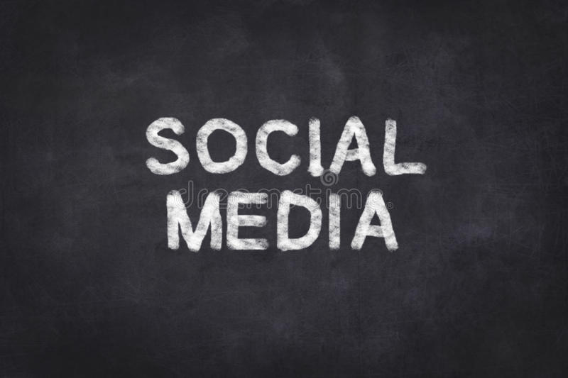 Social Media - text stock photo