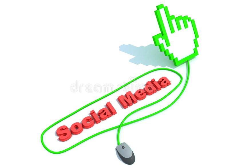 Download Social Media Text With Mouse Royalty Free Stock Photos - Image: 19729958