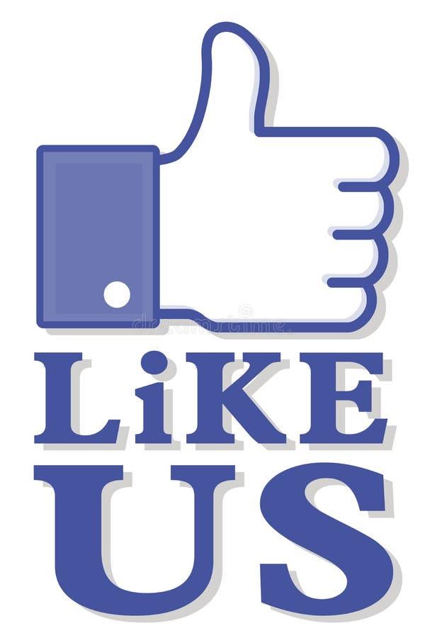 Social media thumb up like us royalty free stock image