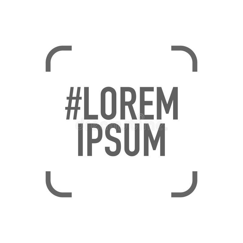 Social Media tritt mit dem Teilen des lorem ipsum-Logos in Verbindung stock abbildung