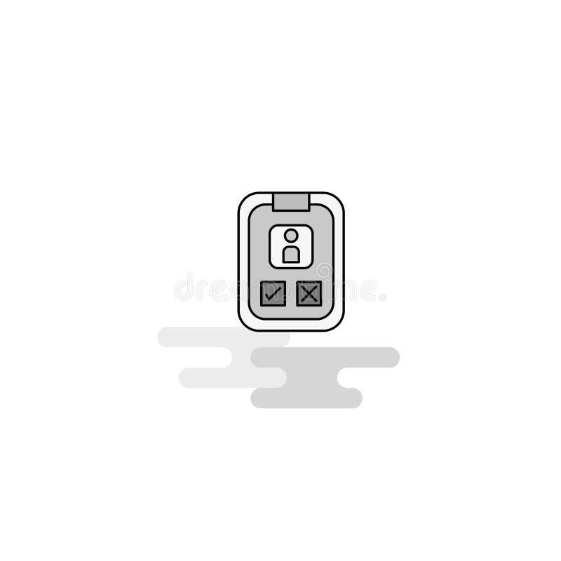Social media user profile Web Icon. Flat Line Filled Gray Icon Vector vector illustration