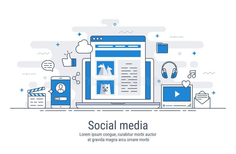 Social media vector illustration stock illustration