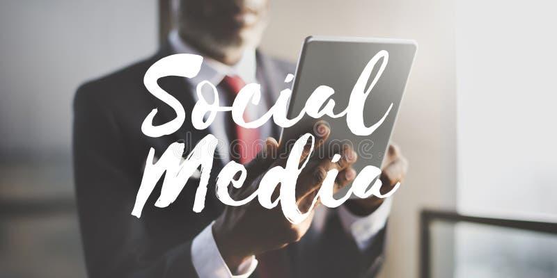 Social Media-Verbindungs-Vernetzungs-Chat-Konzept lizenzfreie stockbilder