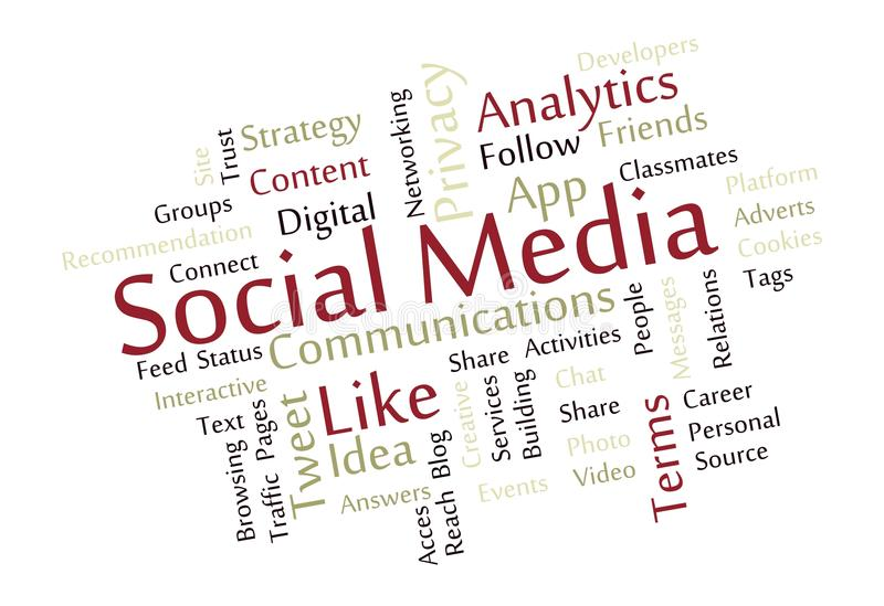 Download Social Media Word Cloud stock vector. Image of content - 27754836