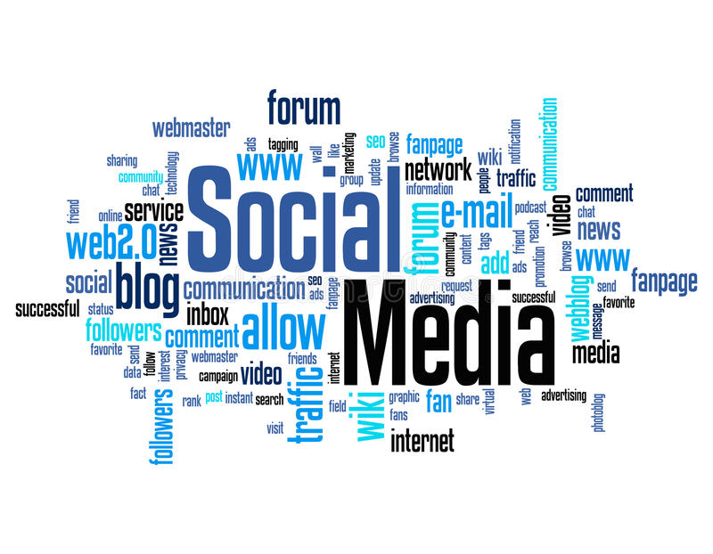 Social Media Word Cloud Royalty Free Stock Photography