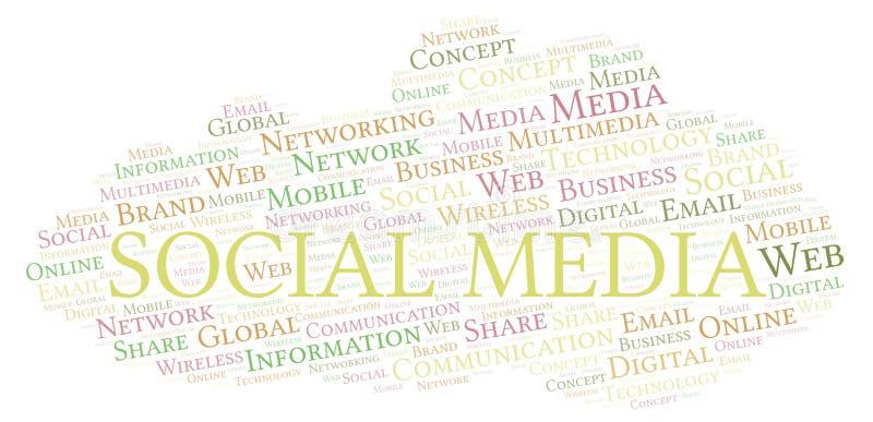 Social Media word cloud royalty free illustration