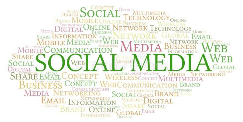 Social Media word cloud stock illustration