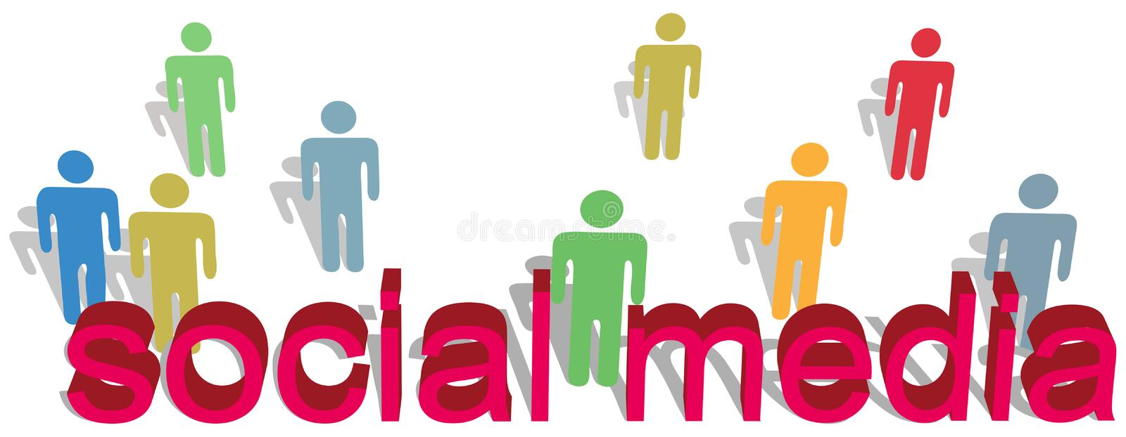 Download Social Media Words People Symbol Text Stock Vector - Image: 17881986