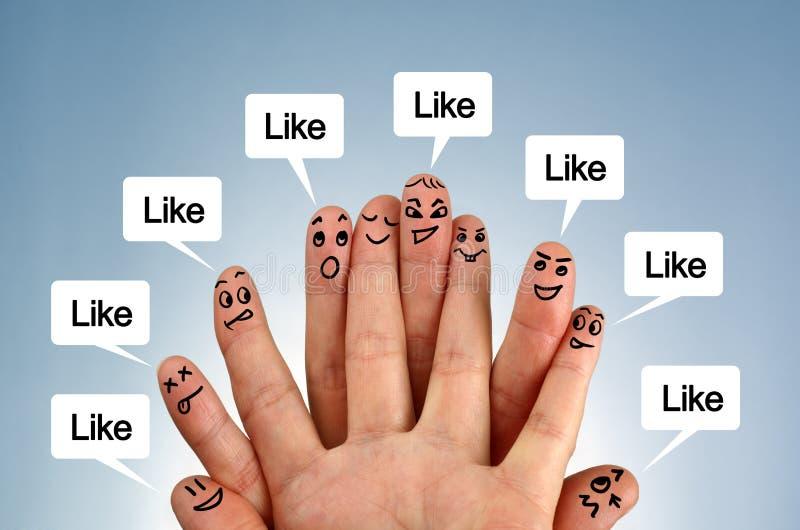 Social nätverksfamilj arkivfoto