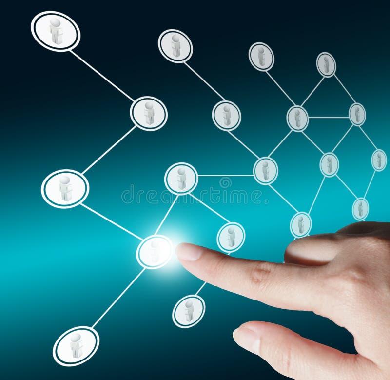 Social nätverksstruktur arkivbild