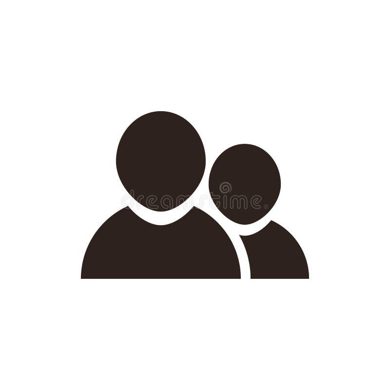 Social nätverkssymbol stock illustrationer