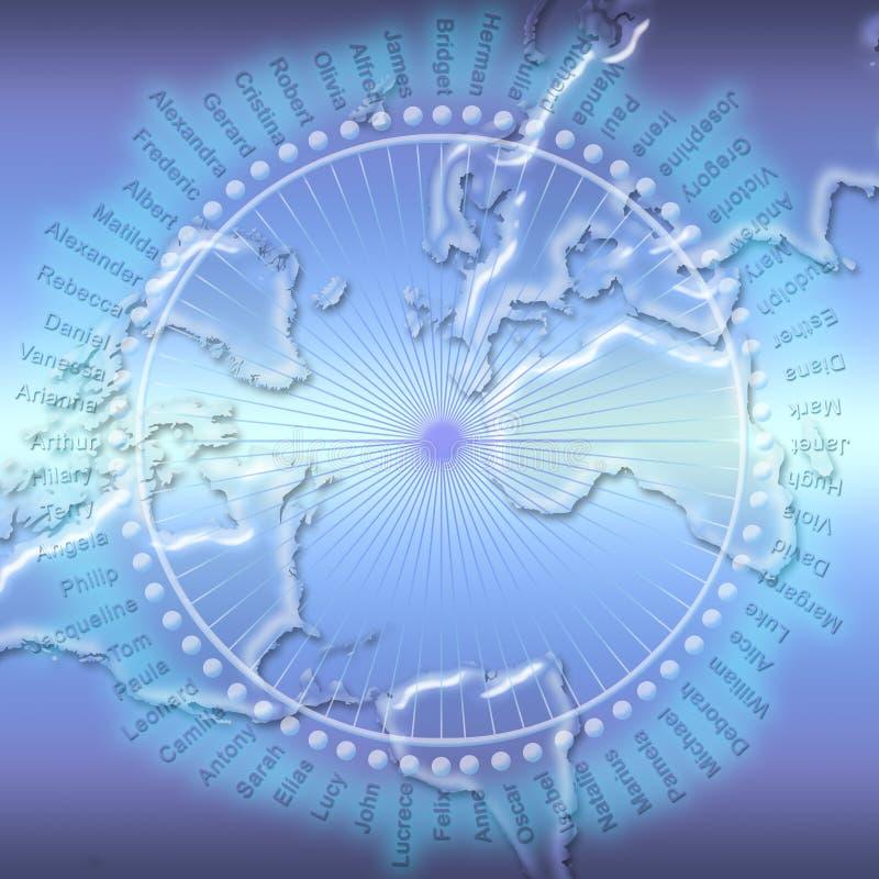 Social Network (01) stock illustration