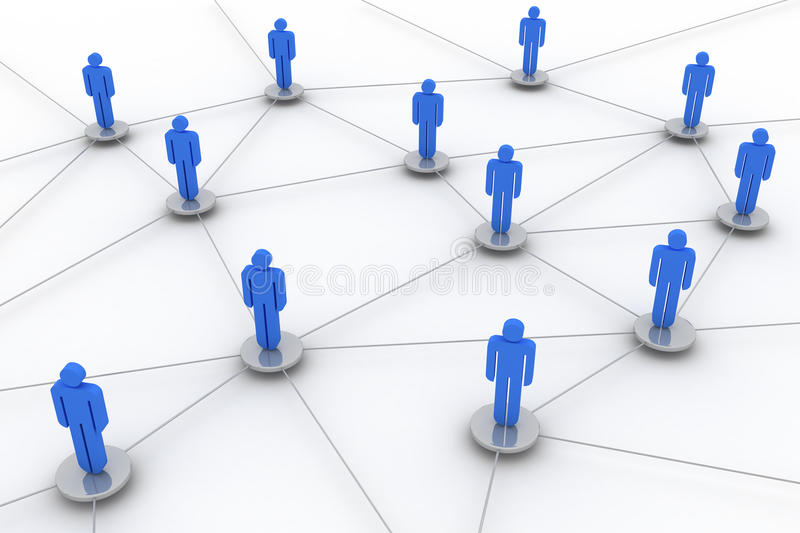 Social network. Concept image representing network, networking, connection, social networks, communications stock illustration