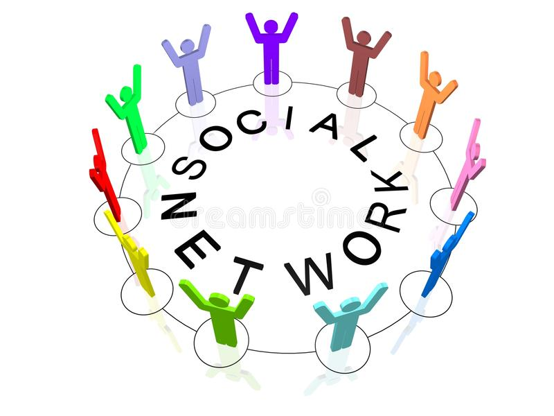 Social Network. Image of Social Network Concept stock illustration